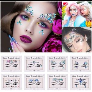 Other - 4 packs of mermaid/unicorn face decor we stickers